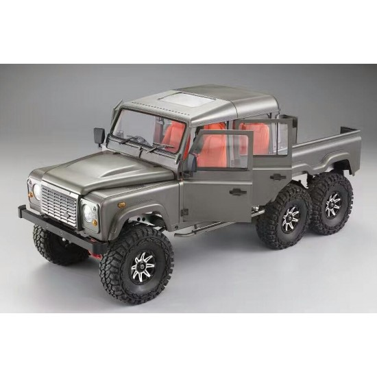 jg rc 1 10 6x6 land rover defender pickup d130 hard body. Black Bedroom Furniture Sets. Home Design Ideas