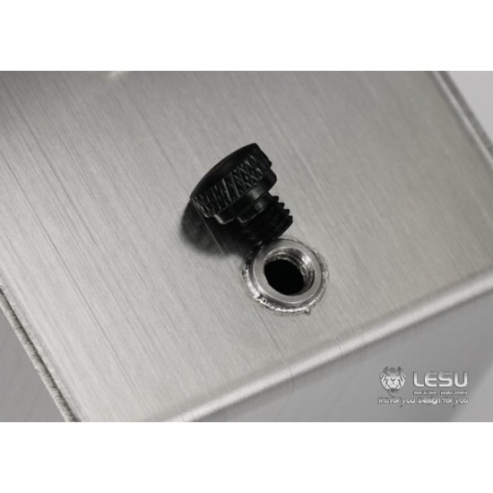 Lesu 1:14 New design square stainless steel fuel tank 85mm