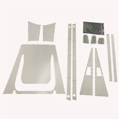 JG RC 1:10 Stainless Steel Silver Diamond Plate Accessory Pack for D110-D90 Defender Station Wagon
