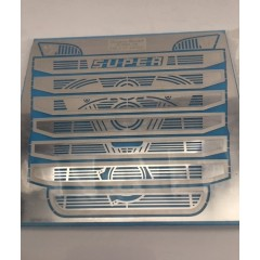 1:14 stainless steel silver SCANIA SUPER V8 piston grill R730
