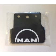 1:14 Black rubber upgrade rear mud flaps for MAN trucks