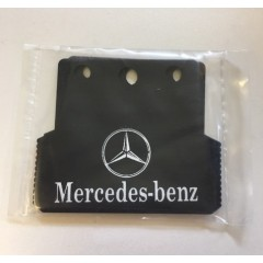 1:14 Black rubber upgrade rear mud flaps for MERCEDES BENZ trucks