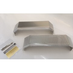 New style 1:14 universal stainless steel chequer plate fenders