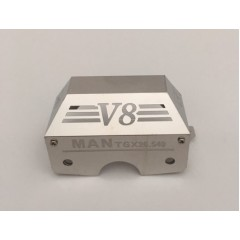 1:14 scale stainless steel MAN TGX V8 standard Tamiya gear box cover