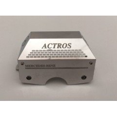 1:14 scale stainless steel Mercedes Actros, standard Tamiya gear box cover