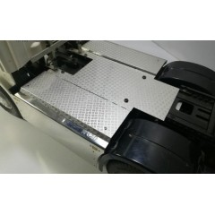 1:14 full metal SCANIA 6x4 chequer plate chassis cover inc side metal locker boxes (dutch style)
