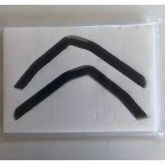 1:14 VOLVO cab window wind deflectors tinted (pair)