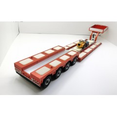 1:14 scale 4 axle low loader trailer 1280mm! Built & operational