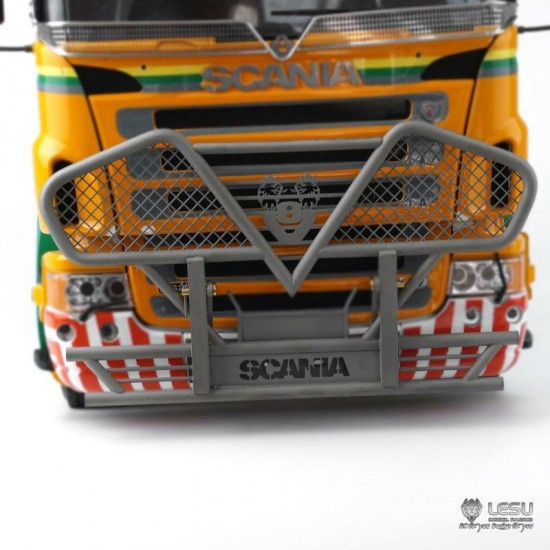 New from Lesu! 1:14 SCANIA V8 hinged Front bull bar. Full metal