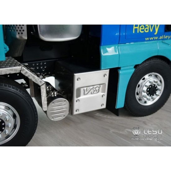 NEW FROM Lesu! 1:14 full Metal MAN V8 truck exhaust