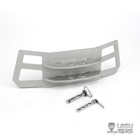 LESU 1:14 Metal Mercedes Arocs polished front tow hitch. SLT