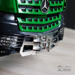 LESU 1:14 Metal Mercedes Actros polished front tow hitch. SLT
