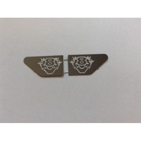 1:14 scale metal SCANIA V8 with Griffin door handle LOGOs (PAIR) Mirror finish