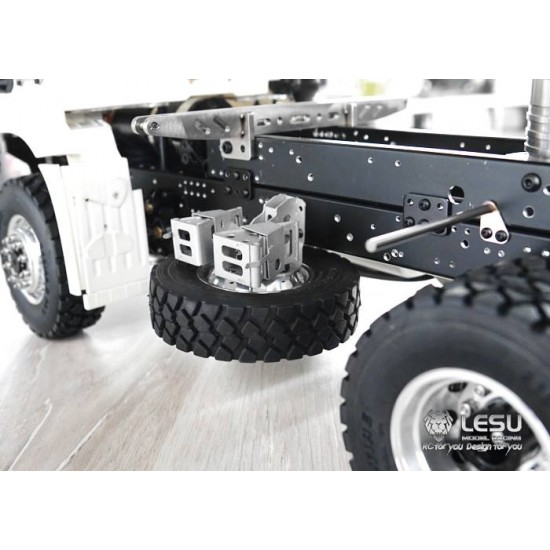 Lesu 1:14 Full metal wheel chock and spare wheel and tyre holder. Universal fit