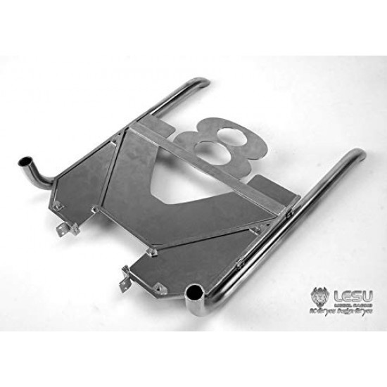 New From Lesu 1:14 SCANIA V8 metal vertical metal exhaust pipes & show plate. 20cm!