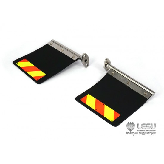 Lesu 1:14 BLACK rubber & metal upgrade mud flaps for American/Australian trucks