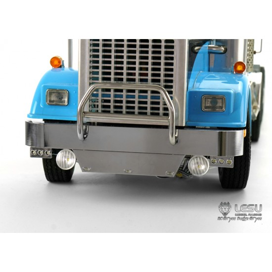 New from Lesu 1:14 Metal King Hauler front bumper & bull bar with lights