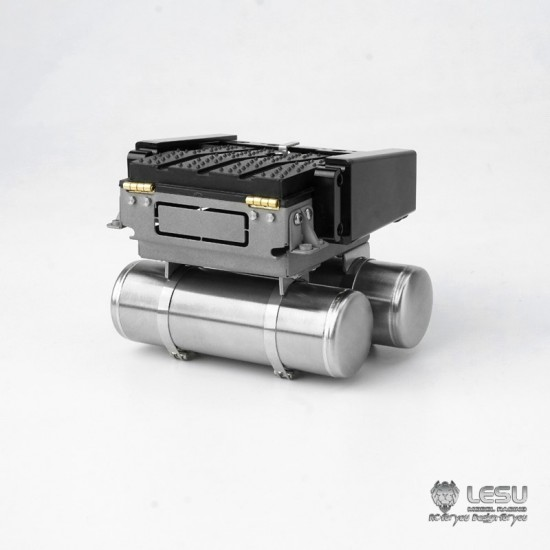 Lesu 1:14 full metal rear cross member, battery box, air tanks & light mount set for ACTROS & AROCS