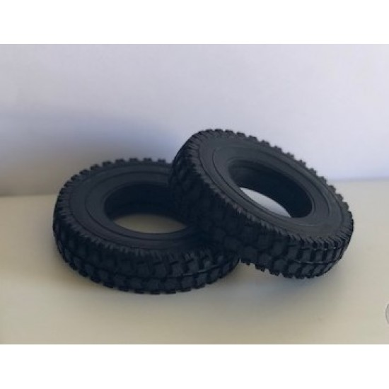 Superscale 1:14 standard size off road upgrade soft rubber tyres inc foam inserts (pair)