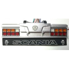 1:14 SCANIA upgrade rear show bumper with mudflap & light kit. Dutch style