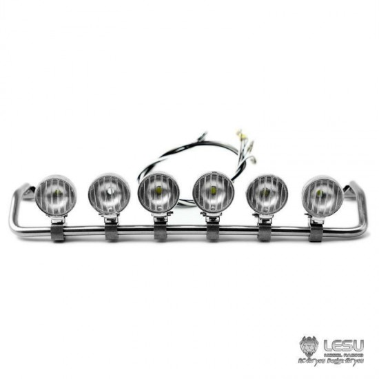 new from lesu  1 14 metal roof 6 x light bar for scania trucks  round light  - herculeshobby