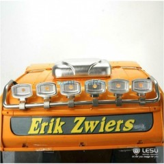 New from Lesu! 1:14 Metal Roof 6 x Light Bar for SCANIA trucks (Square light)