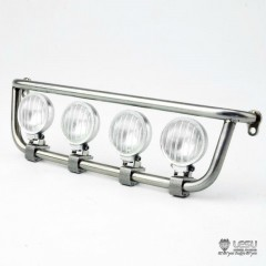 New from Lesu! 1:14 Metal bottom 4 x Light Bar for SCANIA trucks (Round light)