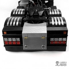 NEW from Lesu 1:14 universal upgrade rear end bumper kit with lights, locker box & mud flap. Dutch style