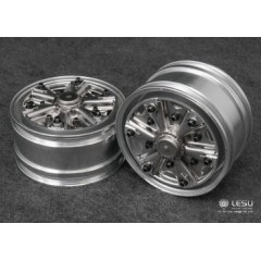 New Australian American Dayton Spider style Lesu 1:14 Metal wide front wheels. Bearing fitting