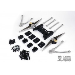 Lesu 1:14 full metal 9mm raised rear leaf suspension set