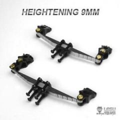 Lesu 1:14 full metal 9mm raised front leaf suspension set for NON-driven axles