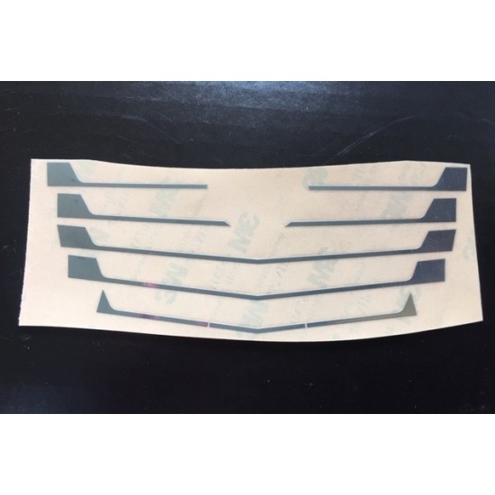 1:14 scale set of chrome Mercedes ACTROS cab grill stickers