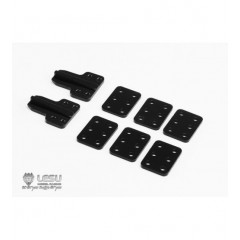 Lesu 1:14 set of metal tipper chassis rail brackets and limiters