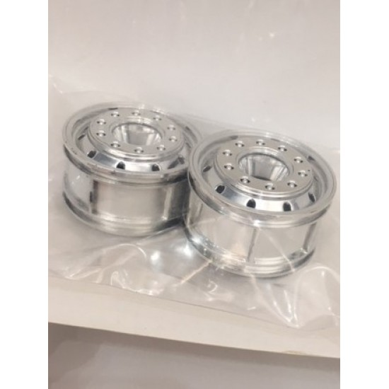 HH 1:14 pair of bearing fitting super single front truck plastic wheels