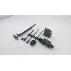 JG RC 1:10 Plastic (green, military style) crawler accessory set