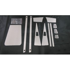 JG RC 1:10 Stainless Steel Silver Diamond Plate Accessory Pack for D110-D90 Defender Pickup Truck