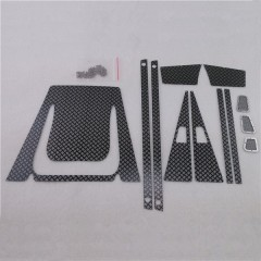 JG RC 1:10 Stainless Steel Black Diamond Plate Accessory Pack for D110-D90 Defender Station Wagon