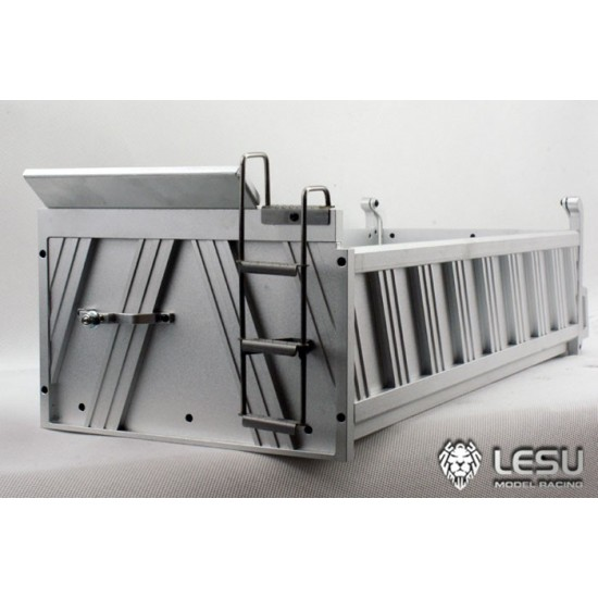 Lesu 1:14 8x8 Full metal 4 axle tipper dump body with ribbed sides TO ORDER