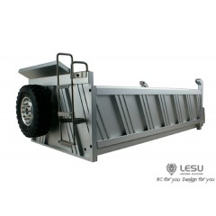 Lesu 1:14  6x6 Full metal 3 axle tipper dump body. Ribbed sides. TO ORDER