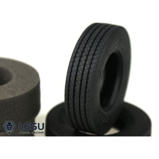 Lesu 1:14 standard size on road upgrade soft rubber tyres including foam inserts (pair)