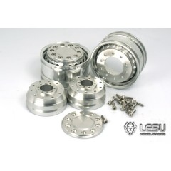Lesu Pair of 1:14 super single 20 hole truck front wheels (hex)