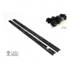 Lesu 1:14 Pair of metal upgrade 6x4 chassis rails. 470mm