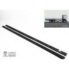 Lesu 1:14 Pair of metal upgrade LONG 6x4 chassis rails. 698mm
