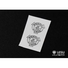 New from LESU! 1:14 pair of SCANIA wing mirror / cab stickers